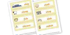 Sh Words Cards