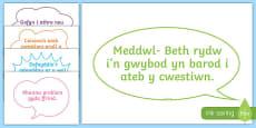 Posteri Beth i wneud pan rwyf angen cymorth
