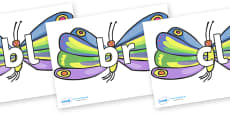 Initial Letter Blends on Beautiful Butterflies to Support Teaching on The Very Hungry Caterpillar