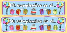 Pancarta de cumpleaños