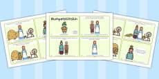 Rumpelstiltskin Story Sequencing 4 per A4 Arabic Translation