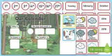 Woodland Creatures Display Calendar