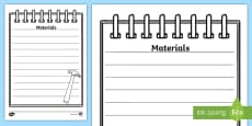 Three Little Pigs Building Site Notepad