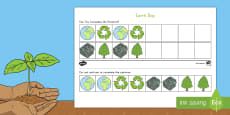 * NEW * Earth Day AB Pattern Activity Sheet