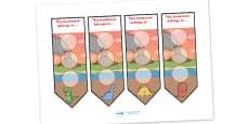 Dinosaur Sticker Reward Bookmarks (30mm)