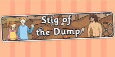 Stig of the Dump Display Banner