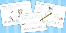 Pencil Control Sheets to Support Teaching on Farmyard Hullabaloo