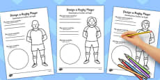 Design a Rugby Player Worksheet Romanian Translation