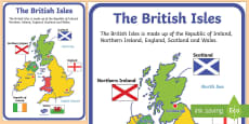 * NEW * British Isles Display Poster