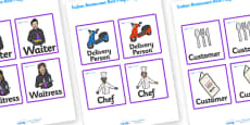 Indian Restaurant Role Play Badges