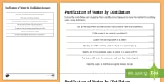 * NEW * Purification of Water by Distillation Sequencing Cards