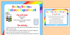 Walking Rainbow Science Experiment