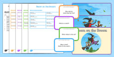 Blanks Levels Questions to Support Teaching on Room on the Broom