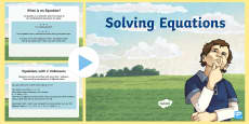 * NEW * Year 6 Solving Equations Maths PowerPoint