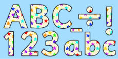Star of the Week Lowercase Display Lettering