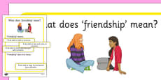 KS3 What Does Friendship Mean? Sorting Activity