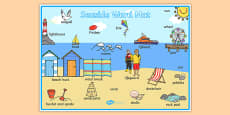 Seaside Scene Word Mat