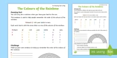 The Colours of the Rainbow Activity Sheet