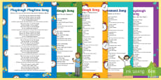 Playdough Play Songs and Rhymes Resource Pack