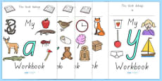 Alphabet Workbook Pack Australian