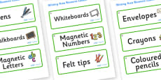 Hazel Tree Themed Editable Writing Area Resource Labels