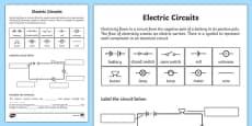 Electric Circuits Activity Sheet