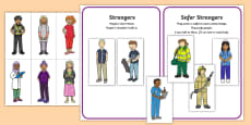 * NEW * Who are Safer Strangers Sorting Activity