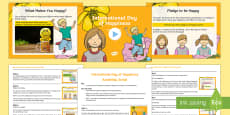 * NEW * The International Day of Happiness Whole School Assembly Pack