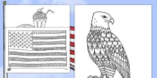 USA Mindfulness Coloring Sheets