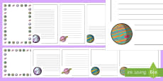 Planet Page Border Pack