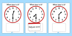 Analogue Clocks Matching Game
