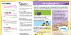 PlanIt - History KS1 War and Remembrance Planning Overview CfE