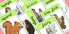 Woodland Creatures Display Posters