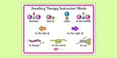 Jewellery Therapy Instruction Words