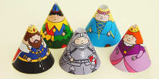 Castles and Knights Cone Characters