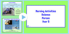 Year 5 Early Morning Science Activities Forces