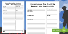 Remembrance Day Creativity Lesson 1 War Poet Fact File