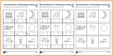 Find and Write the Long oo Sound Words Differentiated Activity Sheet Pack