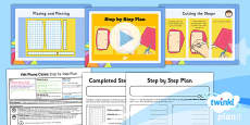 PlanIt - D&T UKS2 - Felt Phone Cases Lesson 5: Step by Step Plan Lesson Pack