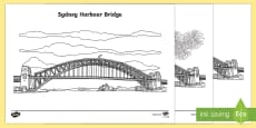 Sydney Harbour Bridge Colouring Pages