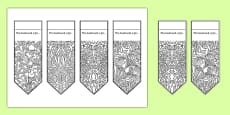 Mindfulness Patterns Colouring Bookmarks