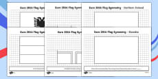 Euro 2016 Flag Symmetry Activity Sheet Pack