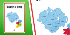 Counties of Ulster Display Poster