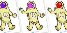 A-Z Alphabet on Astronauts