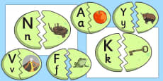 Alphabet Matching Dinosaur Eggs
