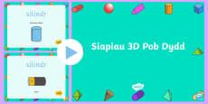 * NEWYDD * Pŵerbwynt Siapiau 3D Pob Dydd