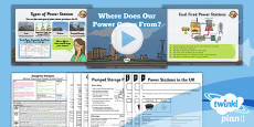 PlanIt - Geography Year 5 - Enough for Everyone Lesson 2: Where Does Our Power Come From? Lesson Pack