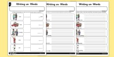 Writing un- Words Differentiated Activity Sheet Pack