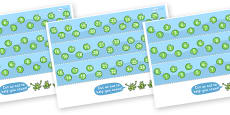 0-30 Number Line (Frogs and Lily Pads)