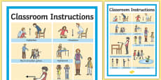 Classroom Instructions Word Grid German / Deutsch
